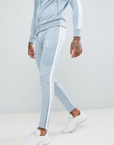 Read more about Gym king skinny poly joggers in blue with logo - blue