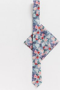 f8c72f989f3a2 Read more about Asos design wedding slim tie pocket square in floral