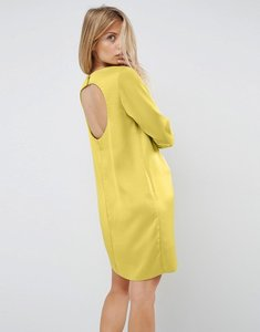 Read more about Asos mini dress with open back - chartreuse