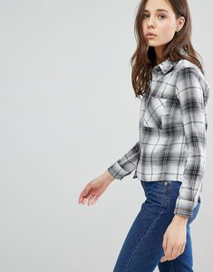 Read more about Glamorous check shirt - black white check