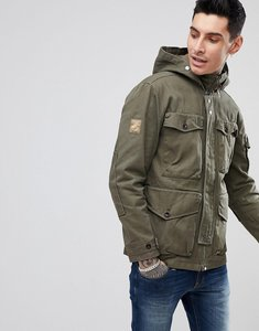 Read more about Pretty green four pocket belfast jacket in green - green
