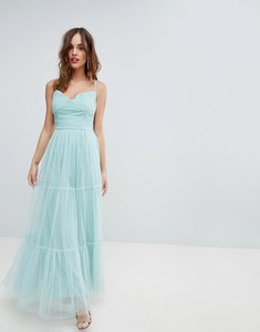 Read more about Little mistress tulle maxi dress with satin belt