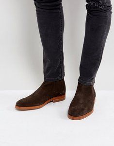 Read more about H by hudson tonti suede chelsea boots in brown - brown