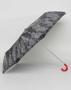 Read more about Lulu guinness superslim 2 doodle snake skin umbrella - black