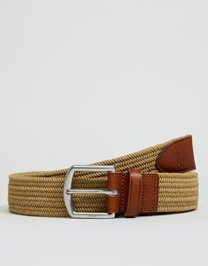 Read more about Polo ralph lauren webbing leather belt player logo in brown - timber brown