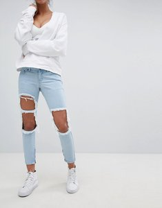 Read more about Liquor n poker skinny jeans with extreme distressing ripped knees - stonewash