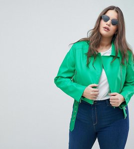 Read more about Asos design curve ultimate pu biker - green