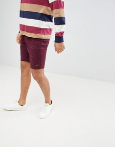 Read more about Farah hawk chino twill shorts in burgundy - 507bordeaux