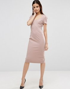 Read more about Asos sculpt pencil dress with short sleeve - mink