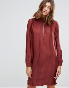 Read more about Just female drafty high neck shift dress - port red