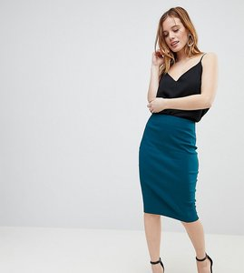 Read more about Asos design petite high waisted pencil skirt - teal