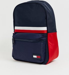 Read more about Tommy hilfiger sports mix corporate stripe nylon back pack in navy