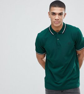 Read more about Fred perry slim fit twin tipped logo polo in green - g50