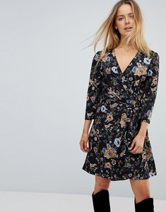 Read more about Liquorish floral wrap dress - multi