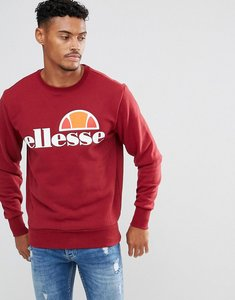 Read more about Ellesse sweatshirt with logo in burgundy - red