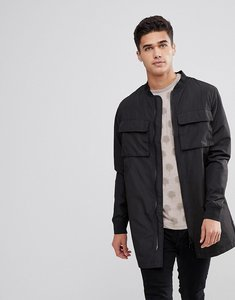 Read more about Bellfield longline bomber jacket - black