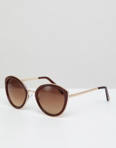 Read more about Mango resin frame sunglasses in brown - brown