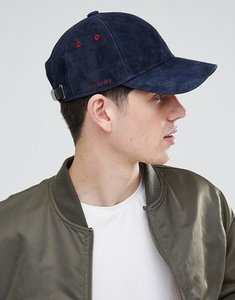 Read more about Ted baker jasz baseball cap in suede - navy 81a43429b14c