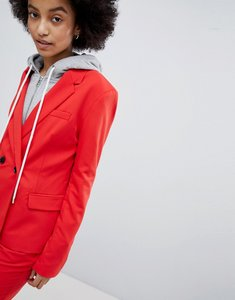 Read more about Bershka co-ord tailored blazer - red