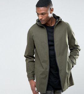 Read more about Asos design tall lightweight parka jacket in khaki - green