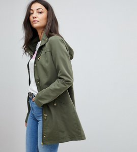 Read more about Vero moda tall light weight parka jacket - ivey green