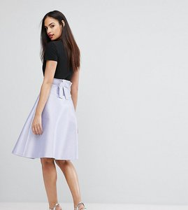 Read more about Vesper bonded satin prom skirt with bow back - cool lilac