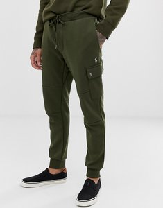 Read more about Polo ralph lauren player logo double tech cuffed cargo joggers in olive green