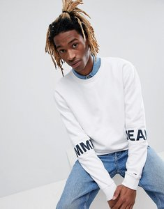 Read more about Tommy jeans essential band sleeve logo crewneck sweatshirt in white - white