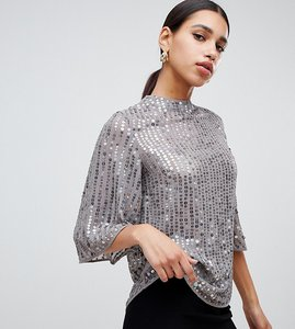 Read more about River island sequin blouse in grey