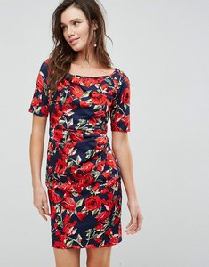 Read more about Uttam boutique floral front gathering dress - navy