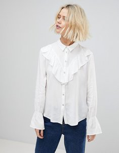 Read more about B young ruffle blouse - off white