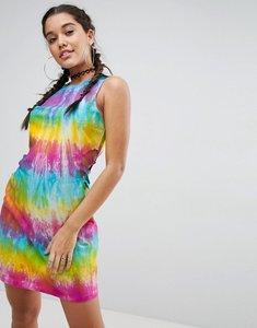 Read more about Asos tie dye bodycon mini dress with cut out detail - tie dye