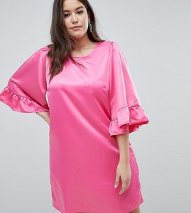 Read more about Junarose ruffle sleeve shift dress - pink