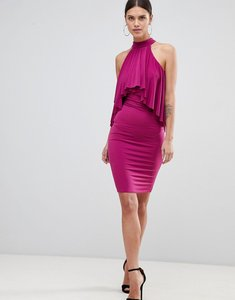 Read more about Forever unique ruffle halter neck dress - magenta