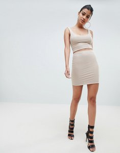 Read more about Fashionkilla mini skirt coord in nude - nude