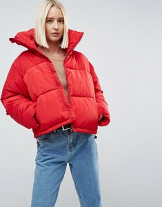 Read more about Brave soul ramblin oversize padded coat - red