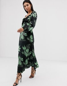 Read more about Asos design sweetheart tropical print maxi dress with bow front