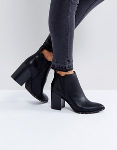 Read more about Office isabella studded heeled ankle boots - black
