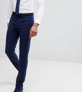 Read more about Asos tall wedding skinny suit trouser in french navy micro texture - navy