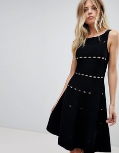 Read more about French connection knit detail midi dress - black