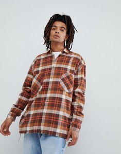 Read more about Mennace checked shirt in brown - brown