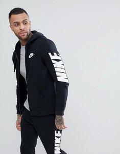 Read more about Nike hybrid zip through hoodie with sleeve print in black 885945-010 - black