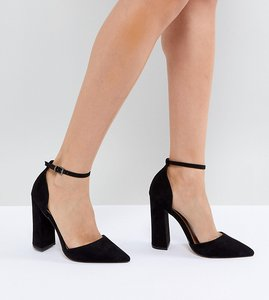 Read more about Asos pebble pointed high heels - black
