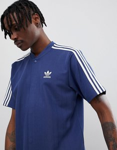 Read more about Adidas originals nova retro football t-shirt in navy ce4803 - navy