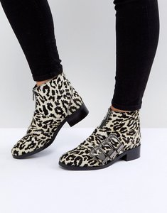Read more about Asos all for it leather buckle ankle boots - multi