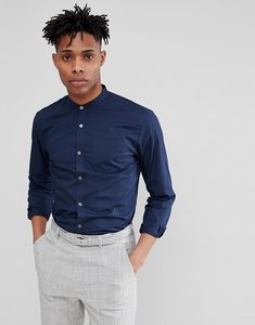 Read more about French connection grandad long sleeve shirt - marine