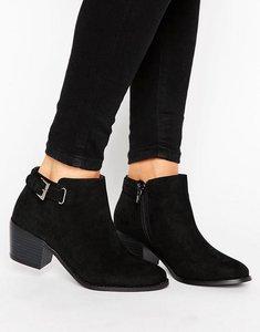 Read more about Head over heels buckle heel boot - black