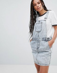 Read more about Noisy may lara denim dungaree mini dress - dark blue denim