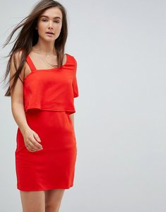 Read more about Vero moda one shoulder dress - flame scarlet