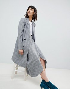 Read more about Gestuz danielle wrap skirt in check - black white check